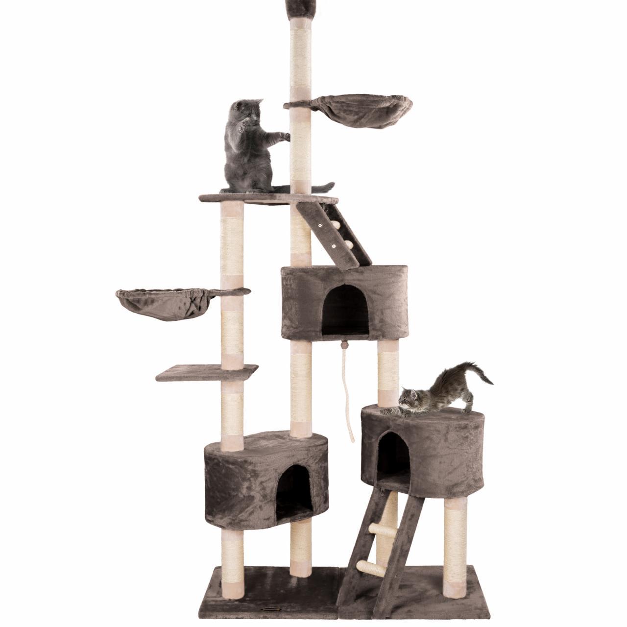 happypet arbre chat grattoir griffoir sisal hauteur plafond 230 260cm ebay. Black Bedroom Furniture Sets. Home Design Ideas