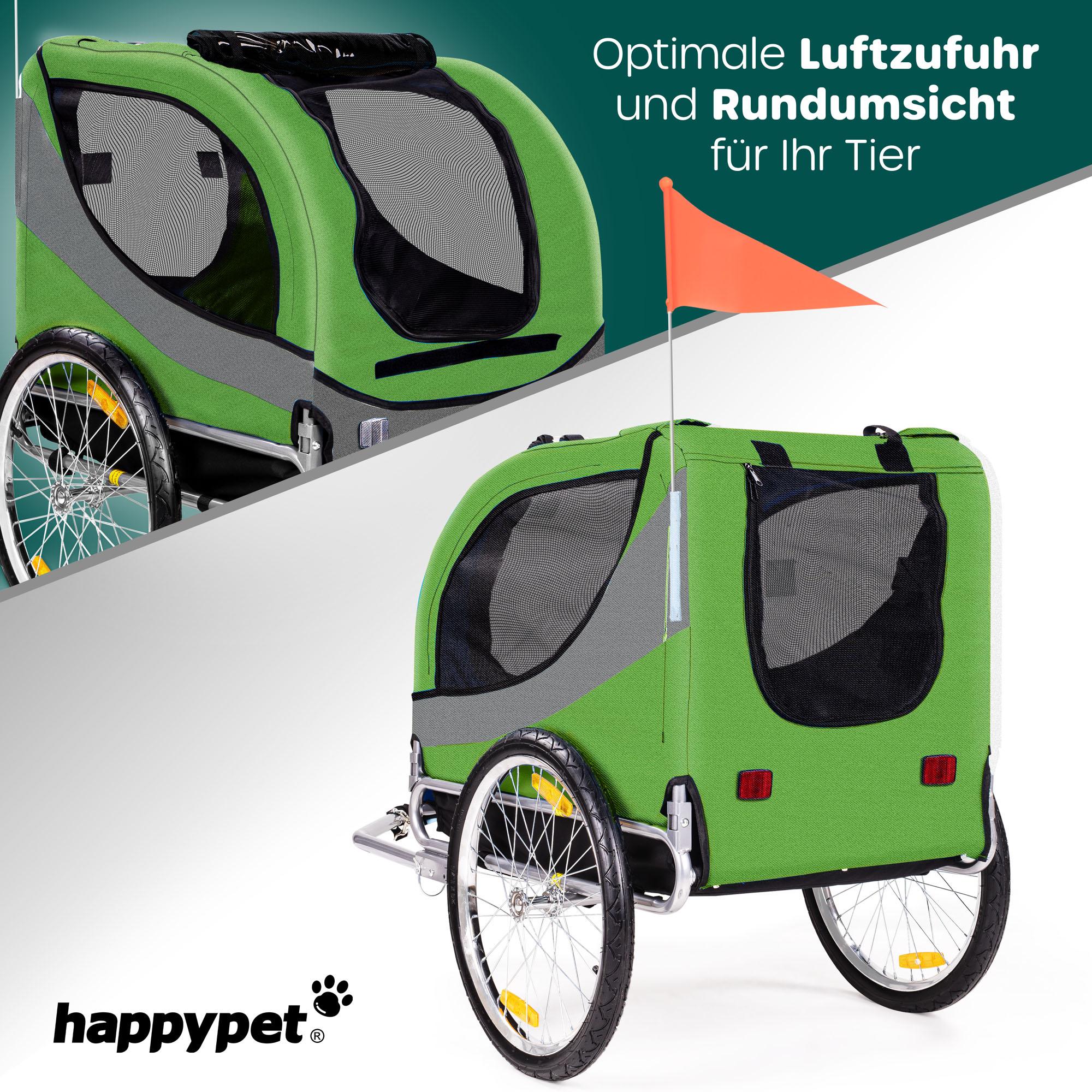 HAPPYPET® Hundeanhänger Hundetransporter Fahrradanhänger Hunde Fahrrad Anhänger