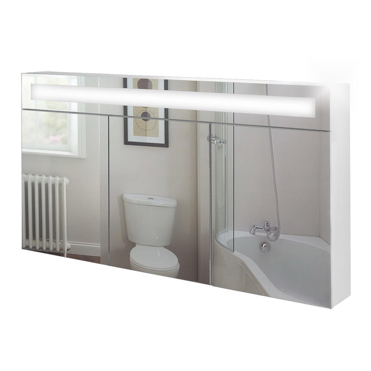 Spiegelschrank-beleuchtet-Spiegel-Bad-Badspiegel-Badmoebel-Badschrank-Softclose