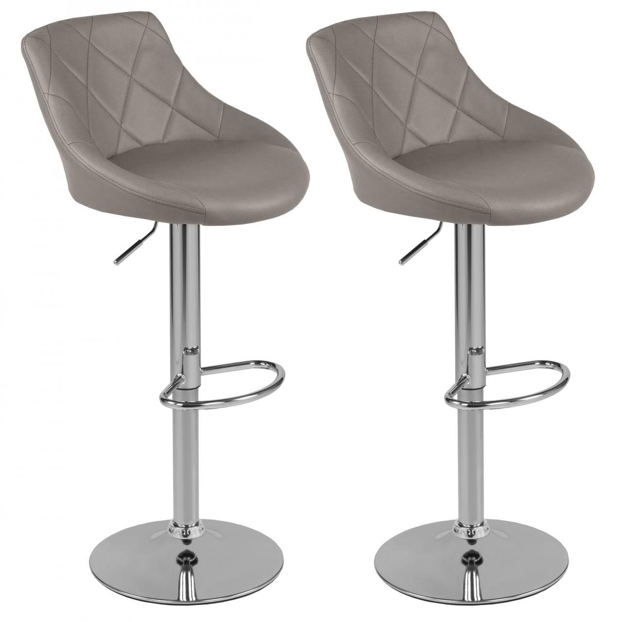 barhocker mit lehne 2er set bar stuhl tresenhocker drehhocker k chenhocker ebay. Black Bedroom Furniture Sets. Home Design Ideas