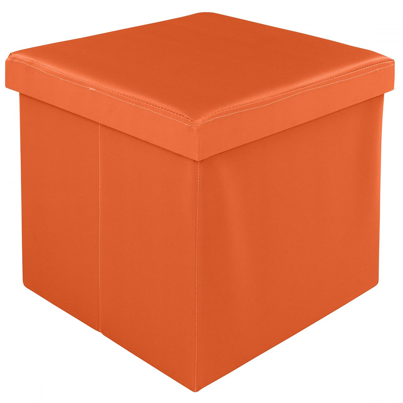 pouf tabouret repose pieds cube pliable box de rangement couleurs diverses ebay. Black Bedroom Furniture Sets. Home Design Ideas