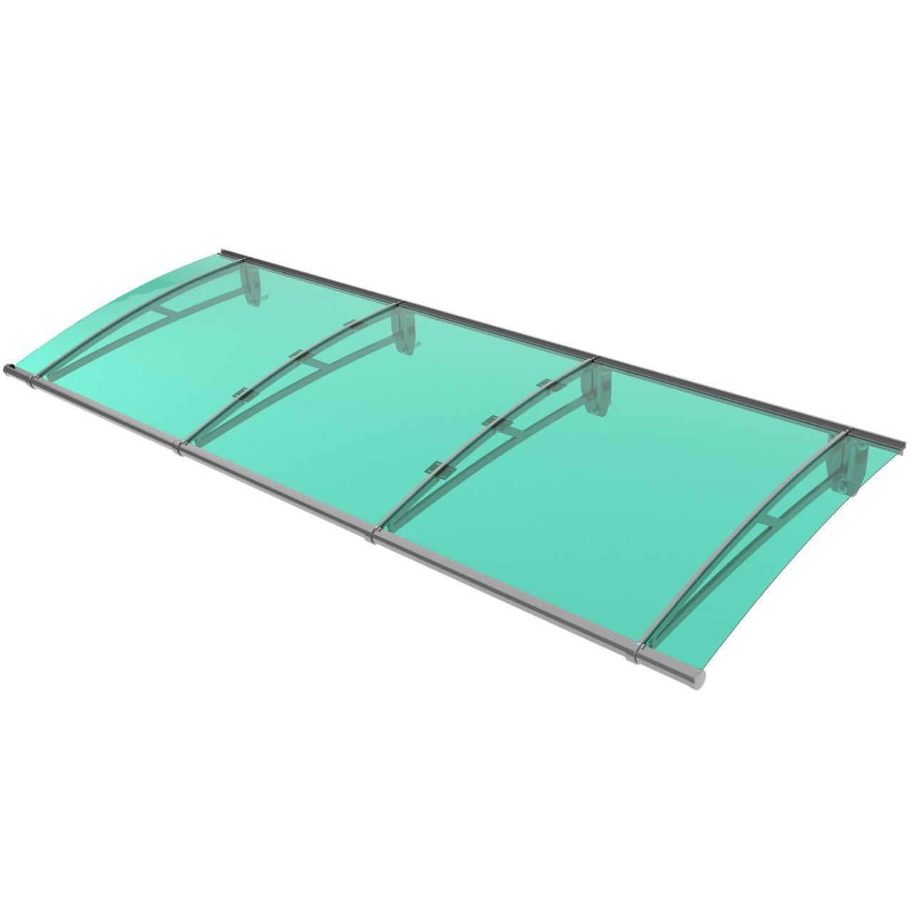 vordach alu haust rdach berdachung haust rvordach kunststoff pultvordach uv ebay. Black Bedroom Furniture Sets. Home Design Ideas