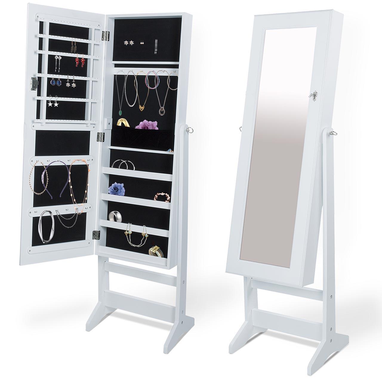 Schmuckschrank Spiegelschrank Spiegel LED abschließbar Standspiegel ...