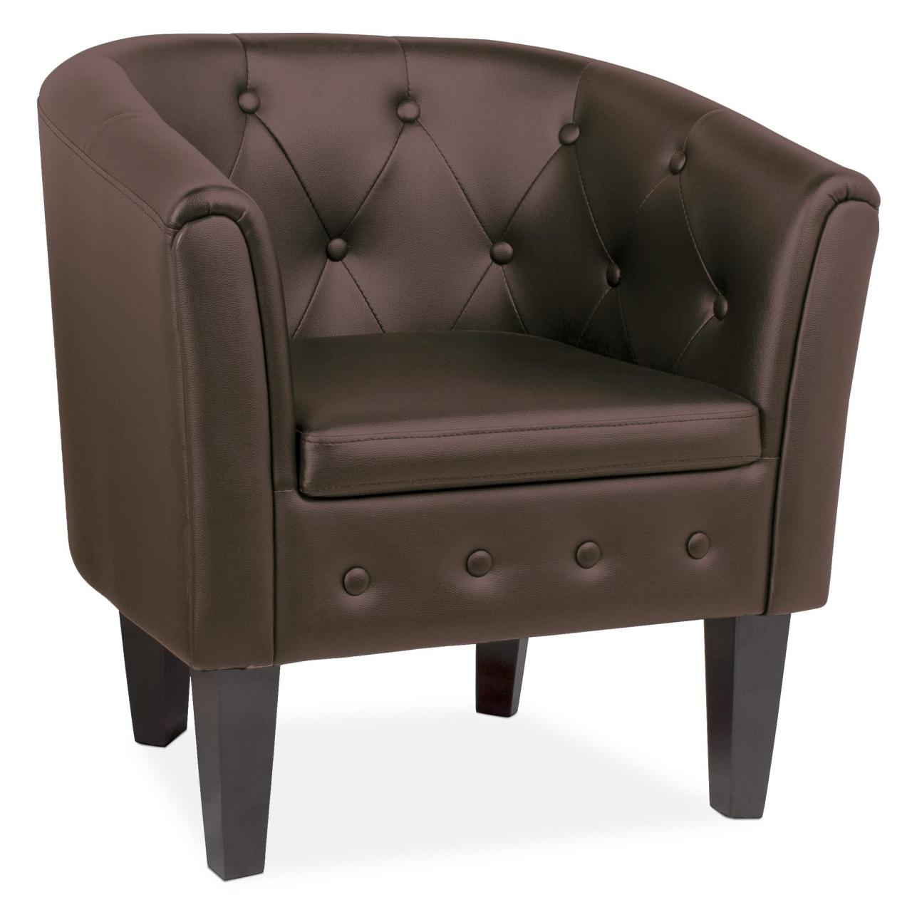 Chesterfield-Sessel-Lounge-Couch-Sofa-Buero-Moebel-Club-Edler-Clubsessel-Bar