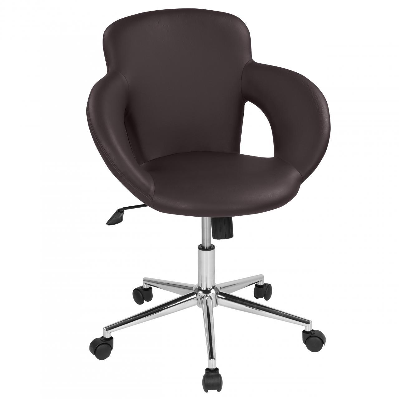 Drehstuhl-mit-Design-Drehkreuz-Buerostuhl-Schreibtischstuhl-Rollhocker-Drehhocker