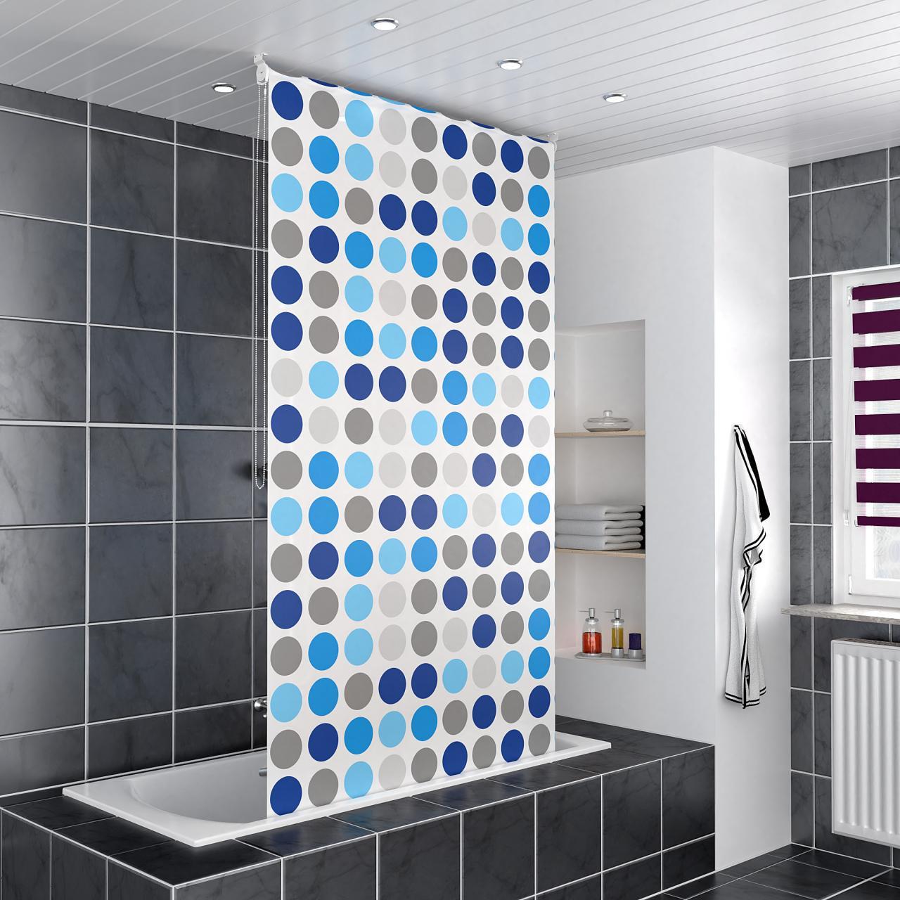 homelux duschrollo vorhang dusche bad alu klemmstange. Black Bedroom Furniture Sets. Home Design Ideas